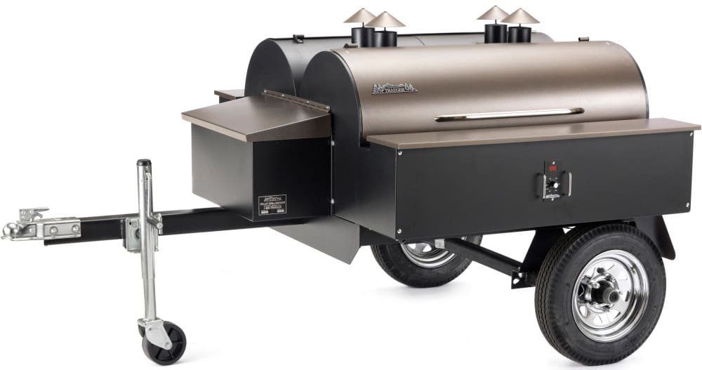 traeger commercial series com190 double commercial trailer wood pellet grill - Pellet Grill