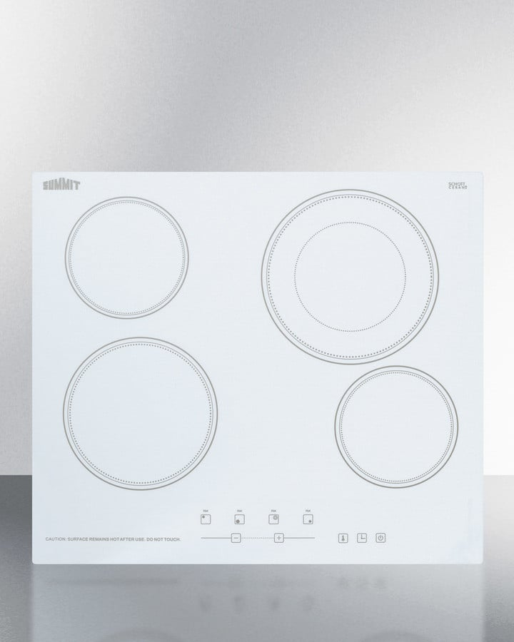 Electric Range Smooth Top Cooking Surface Summit On In: Summit CR4B23T6W 24 Inch Smoothtop Electric Cooktop With