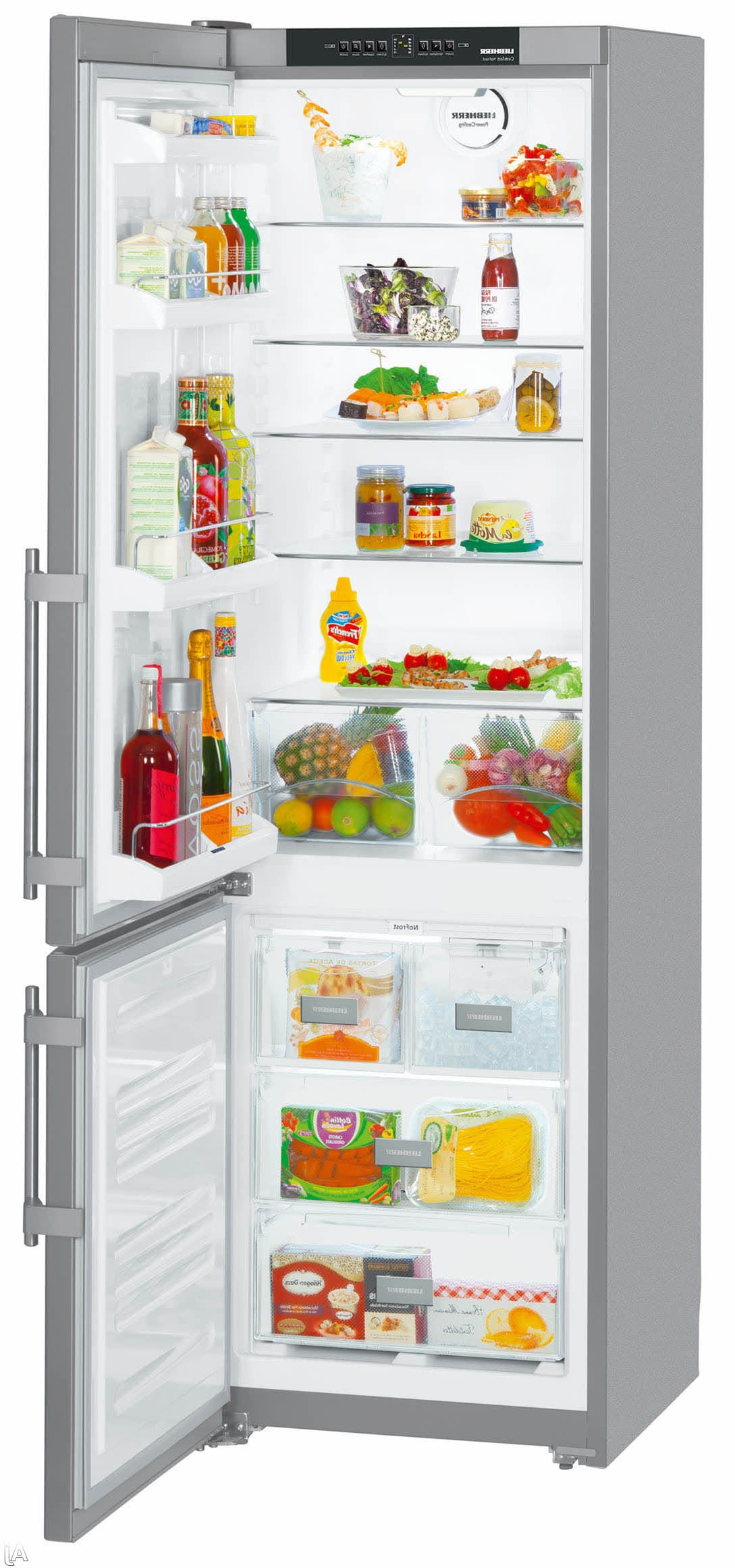 liebherr cs1350bl 24 inch bottom freezer refrigerator with 13 0 cu ft capacity 4 glass. Black Bedroom Furniture Sets. Home Design Ideas