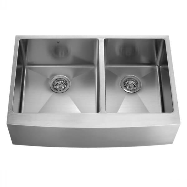 Vigo Industries VGR3620BL 36 Inch Farmhouse Double Bowl Sink with ...