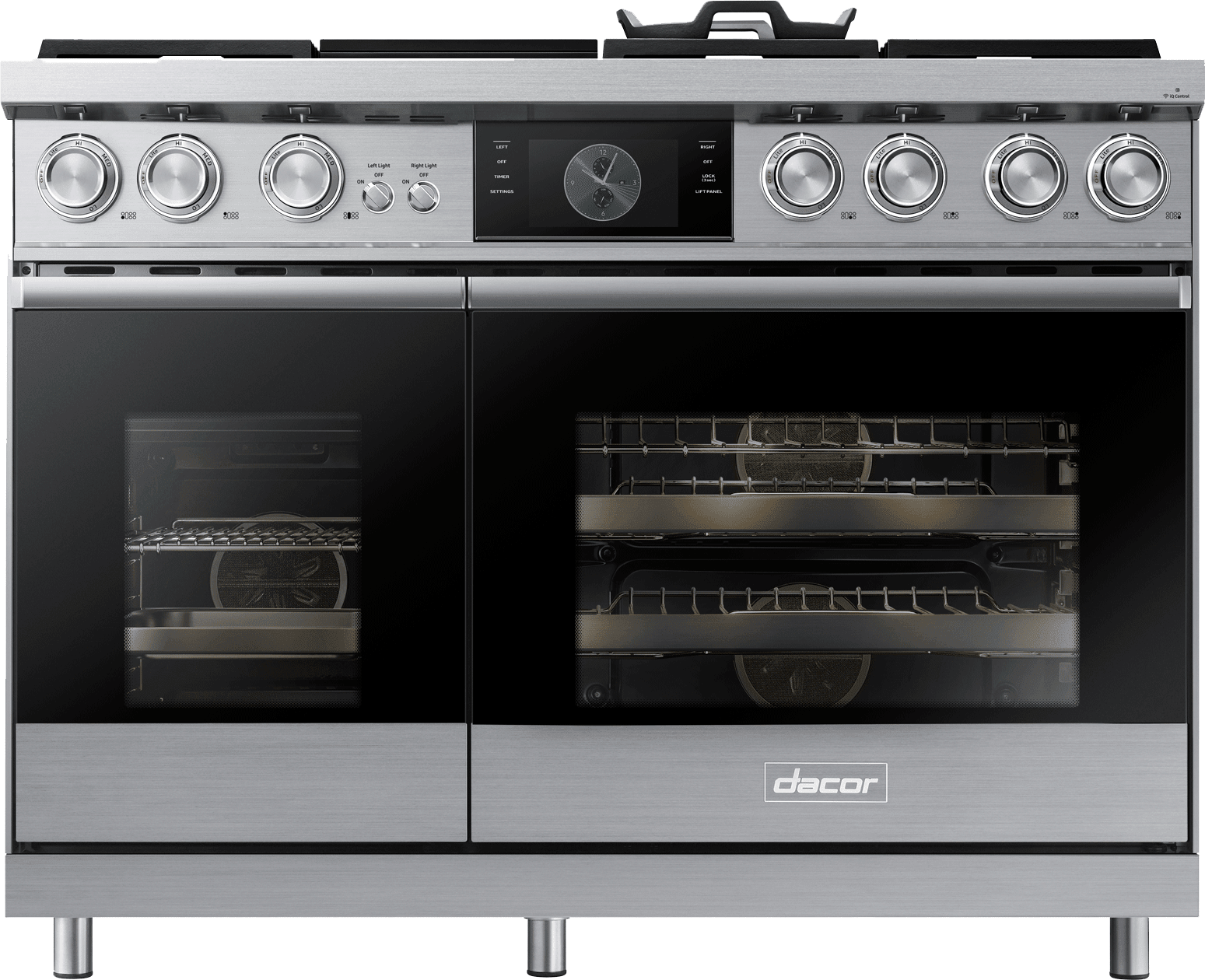 Dacor dop48m96dhs 48 inch freestanding dual fuel range for Dacor 48 rangetop