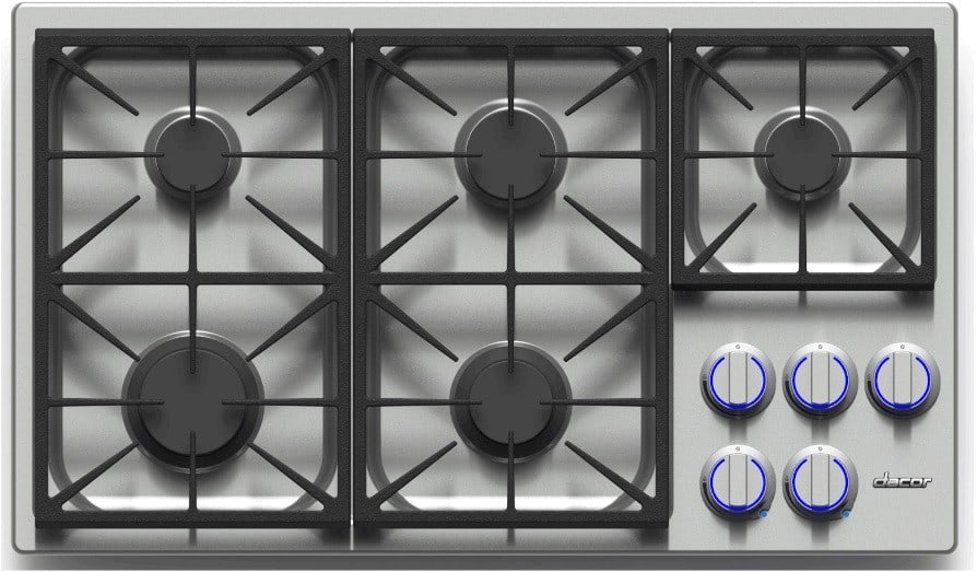 Dacor dyct365gsng 36 inch gas cooktop with 5 sealed for Dacor cooktop
