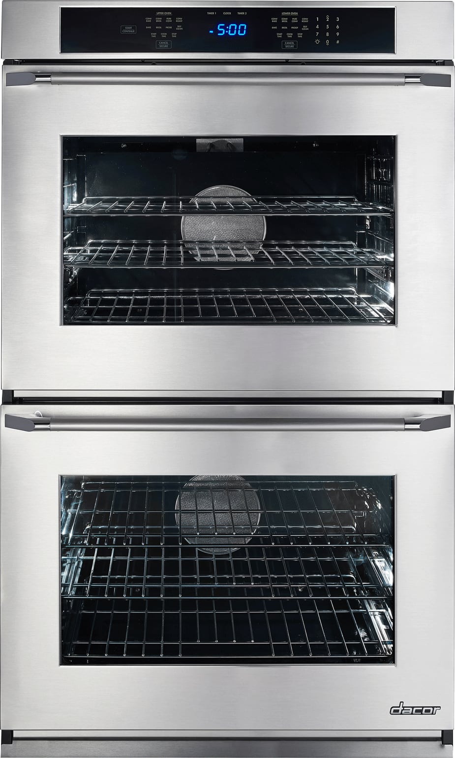 Dacor RNO230S208V 30 Inch Double Electric Wall Oven With 4.8 Cu. Ft. Convection  Oven, 6 Cooking Modes, Steam Self Clean, Hidden Bake Element, ...