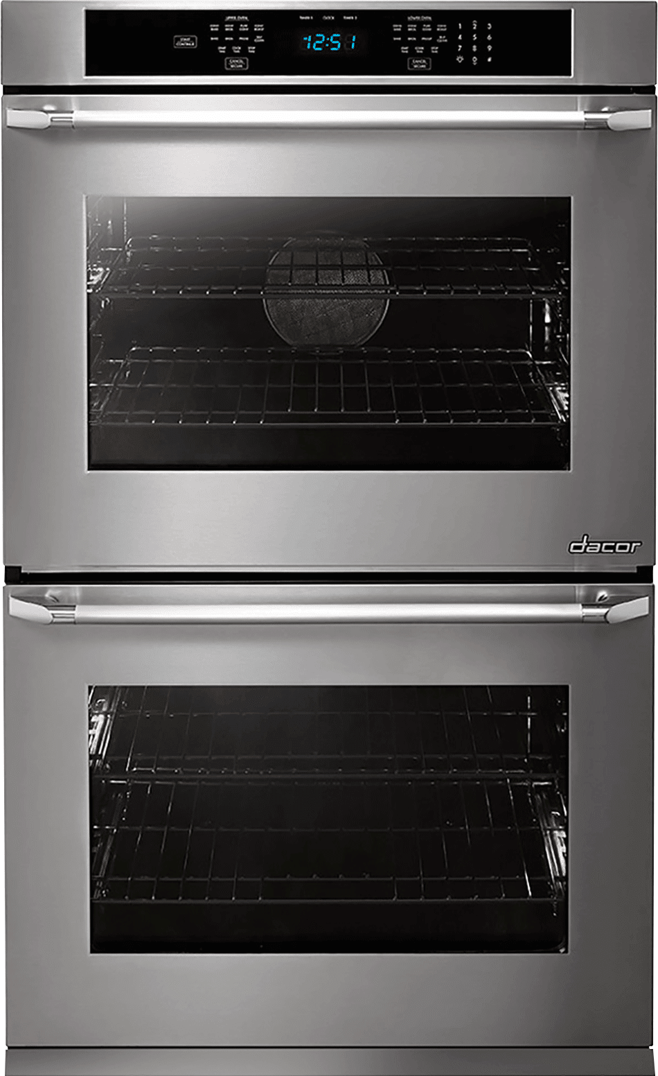 Dacor DTO230S 30 Inch Double Electric Wall Oven with Convection, Steam,  Self-Clean, Hidden Bake Element, 4.8 cu. ft. Top Oven, 6 Cooking Modes, ...