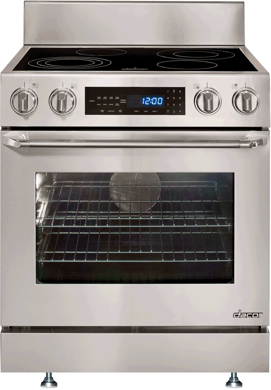Dacor Countertop Stove : Dacor DR30ES 30 Inch Freestanding Electric Range with 4.8 cu. ft ...