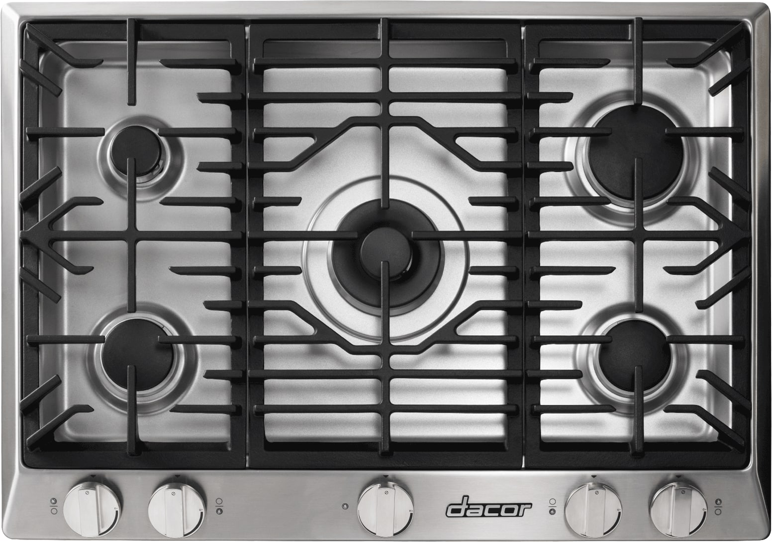 dacor rnct365g 36 inch gas cooktop with 5 sealed burners simmersear burner w melting feature continuous grates permaflame ignition - Gas Cooktop With Downdraft