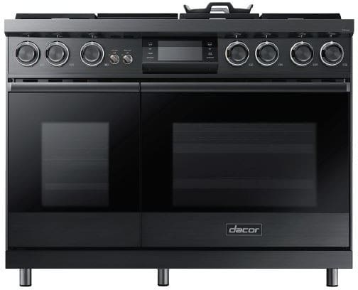 Dacor dop48m96dlm 48 inch freestanding dual fuel range for Dacor 48 rangetop