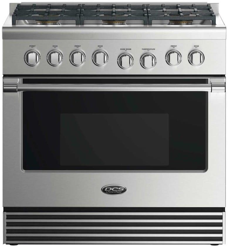 Dcs Rgv2366n 36 Inch Gas Range With 6 Sealed Dual Flow