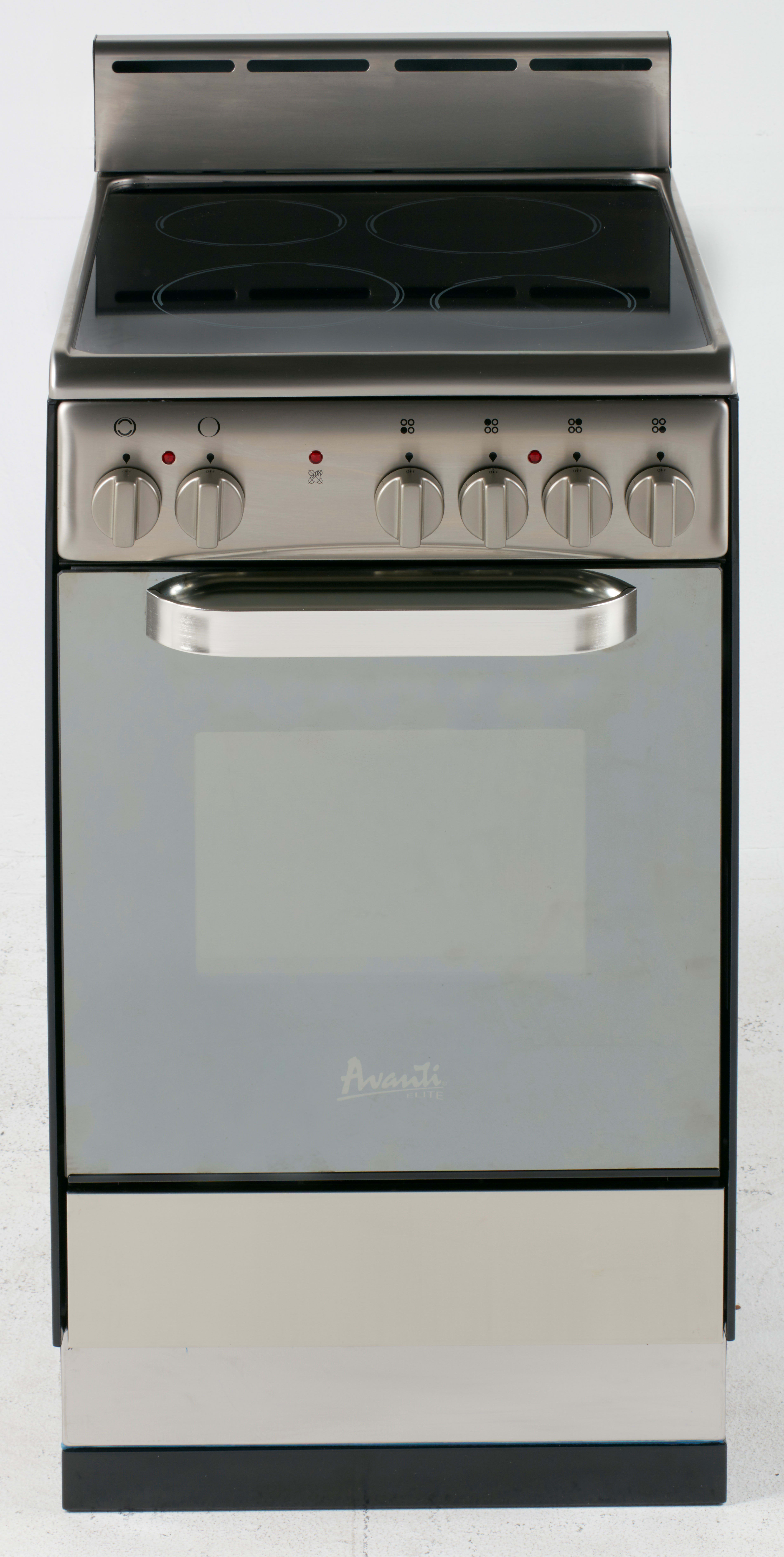 Avanti Der242bs 24 Inch Freestanding Electric Range With 4