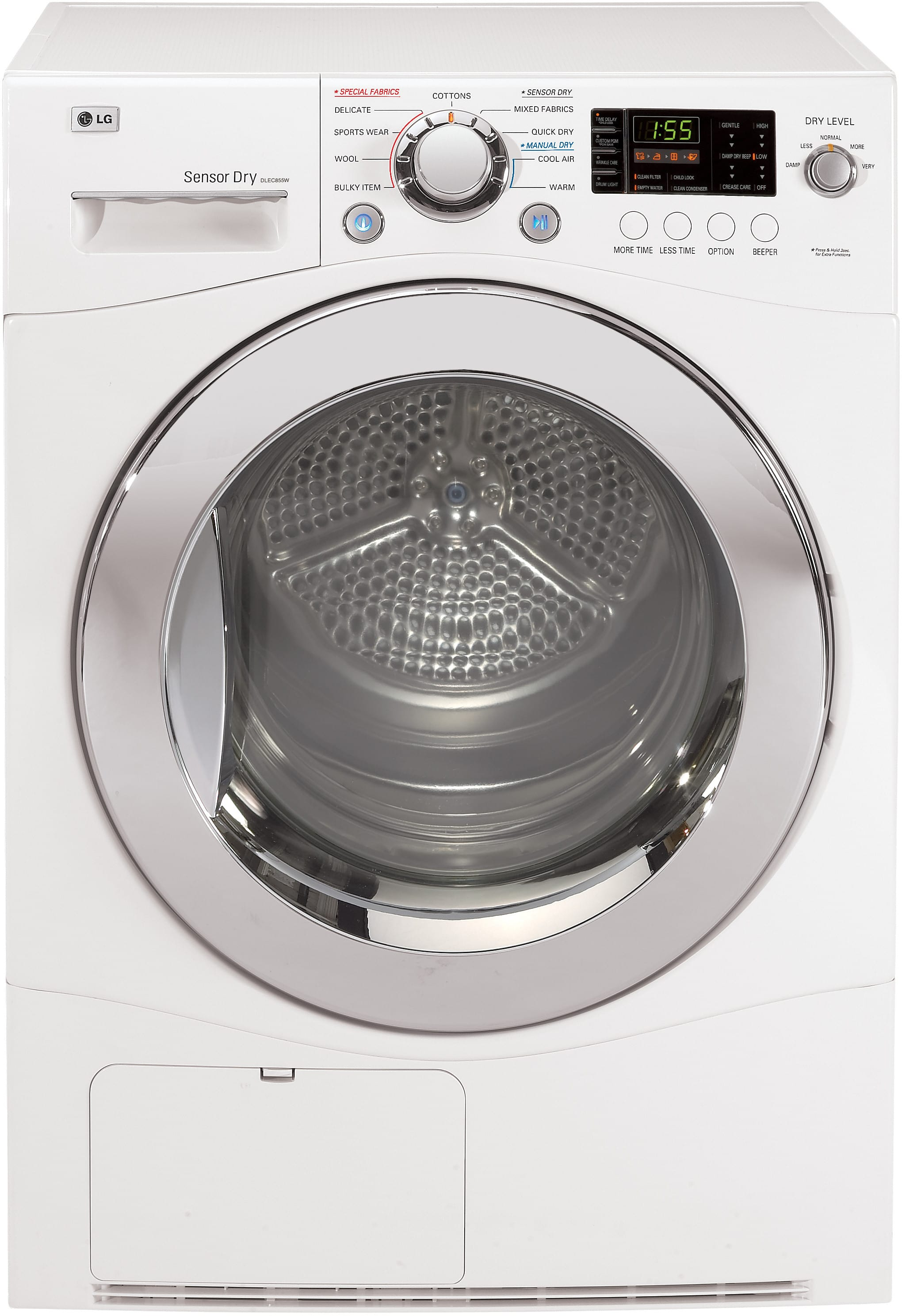 LG DLEC855W 24 Inch 4.2 cu. ft. Compact Electric Condensing Dryer with 9  Dry Cycles, 5 Temperature Selections, Sensor Dry, Wrinkle Care, LoDecibel  Quiet ...