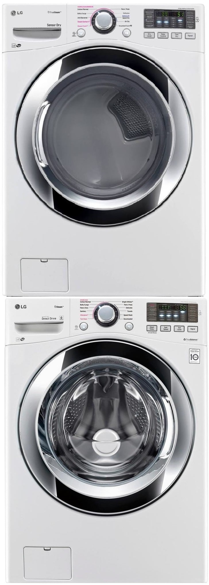 Lg Lgwadrgw105 Stacked Washer Amp Dryer Set With Front Load
