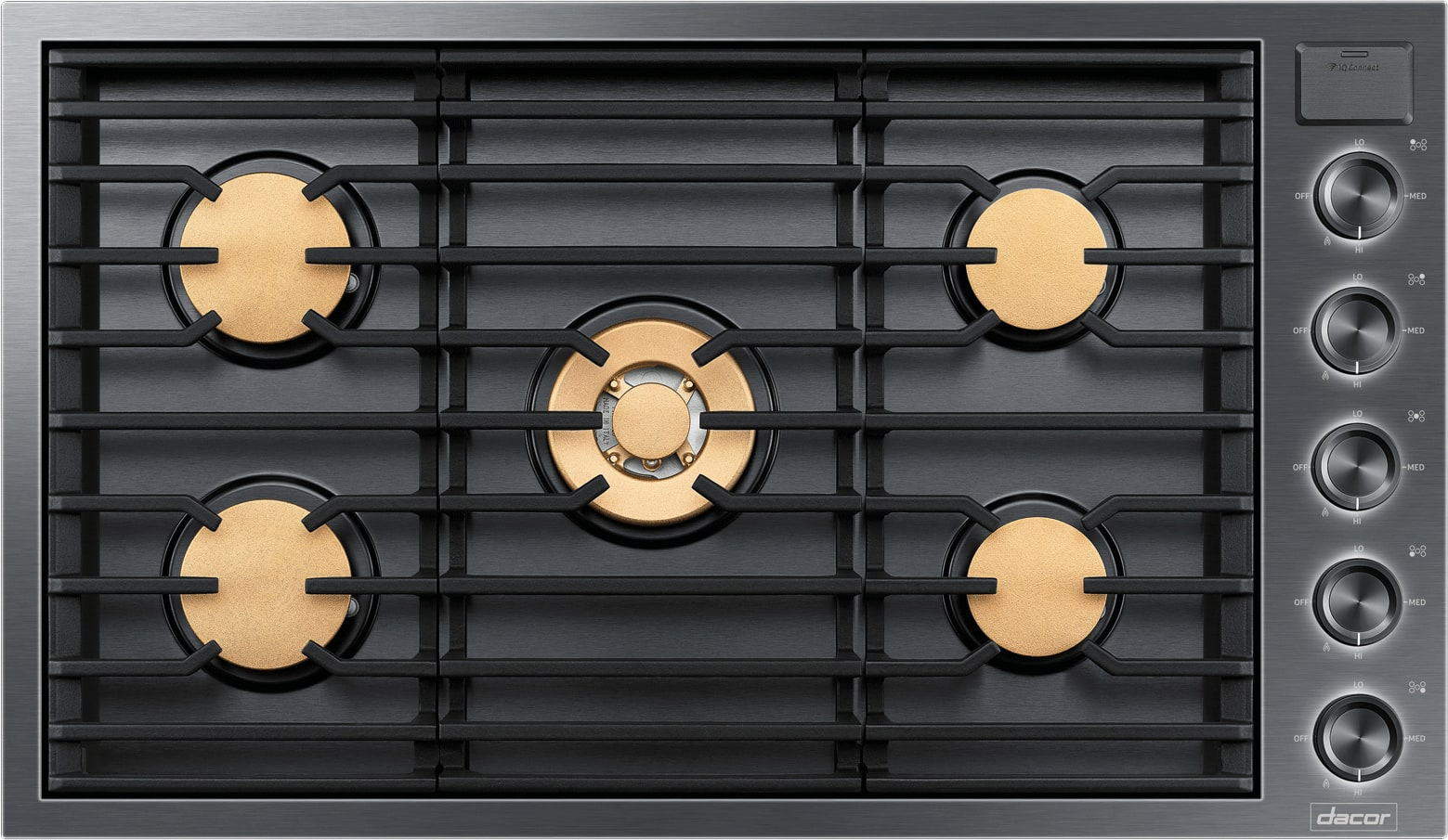 Dacor Dtg36m955fm 36 Inch Gas Cooktop With Iq Kitchen