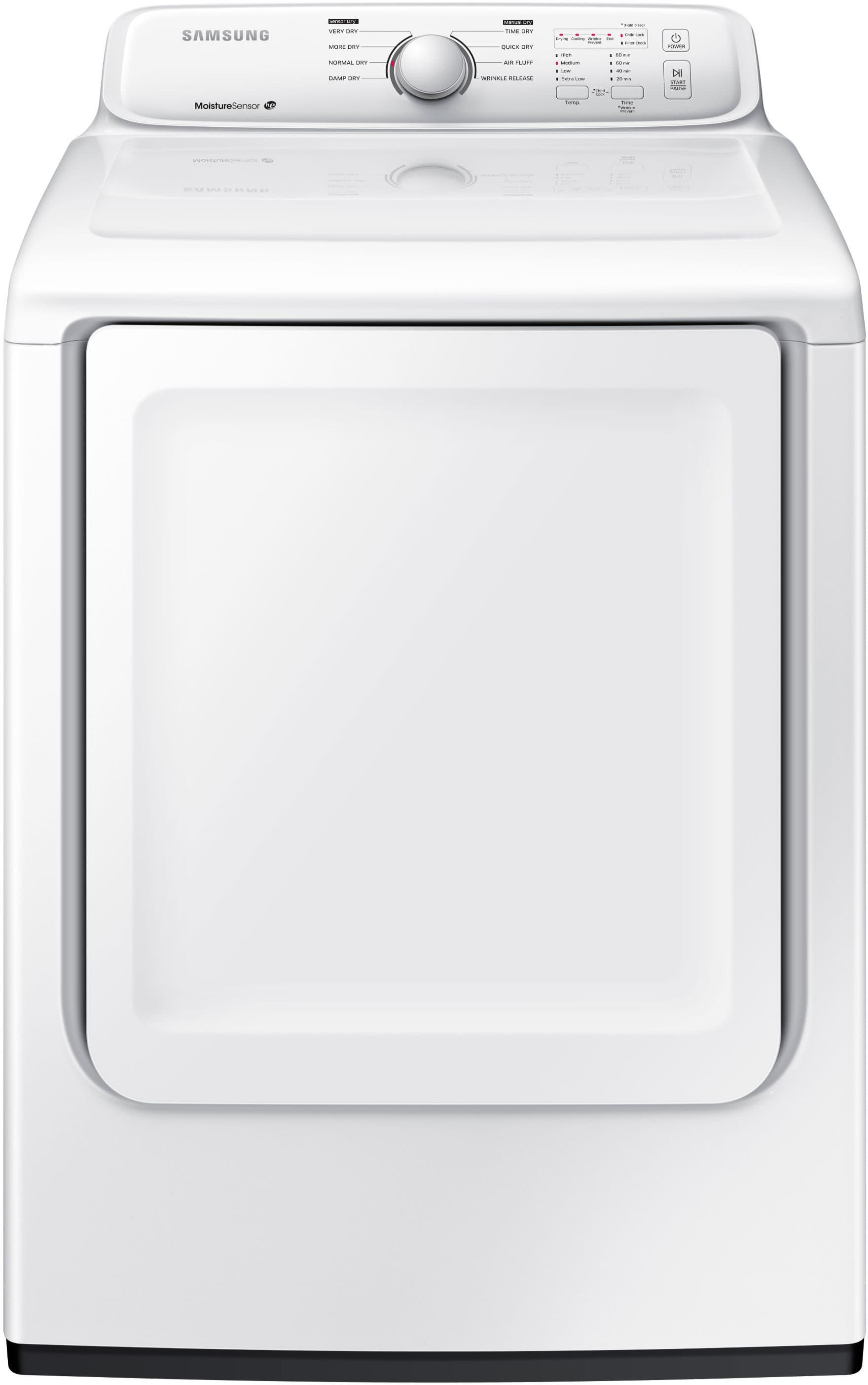 Samsung Dv40j3000ew 27 Inch 72 Cu Ft Electric Dryer With 8 Dry