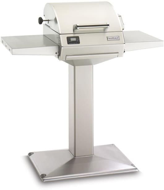 Fire Magic E250S1Z1EP6 42 Inch Electric Pedestal Grill with Thermostatic Controls, Warming Rack ...