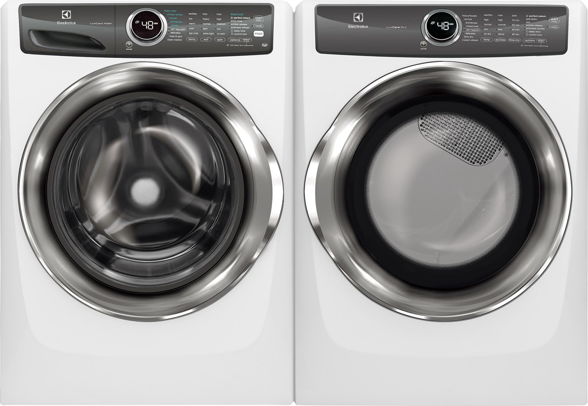 electrolux elwadrgw5271 side by side washer dryer set with front