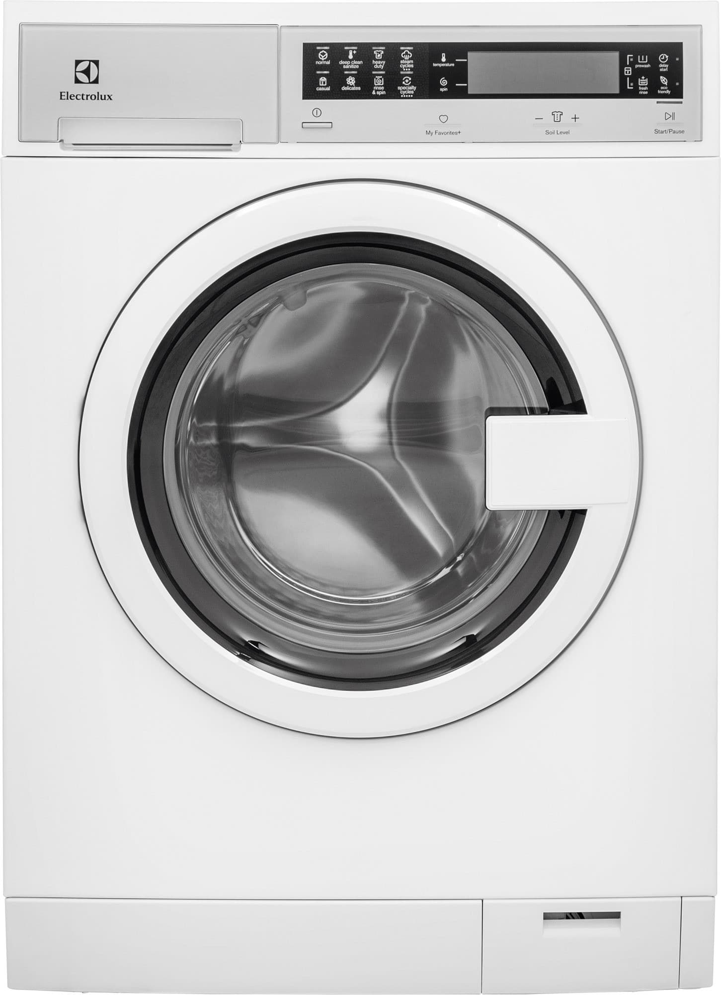 electrolux eifls20qsw 24 inch front load washer with steam nsf certified quick wash cycle automatic temperature control 14 total cycles delay start