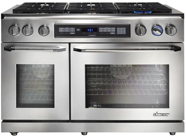 Dacor er48dschng 48 inch freestanding dual fuel range with for Dacor 48 rangetop