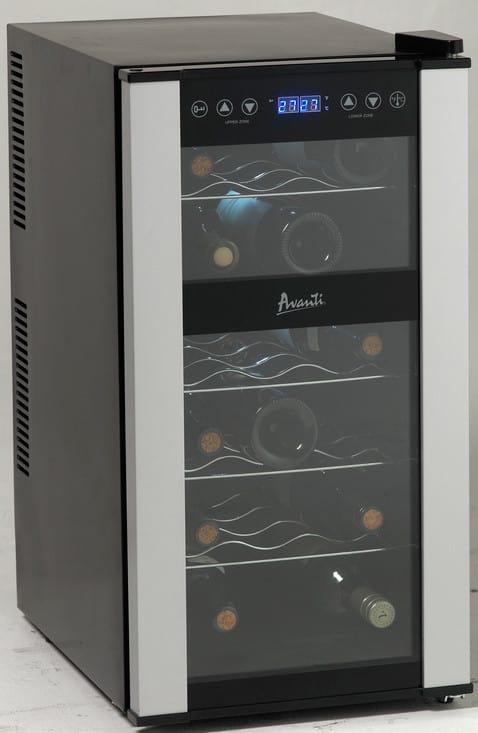 Avanti Ewc1802dz 14 Inch Dual Zone Wine Cooler With 18