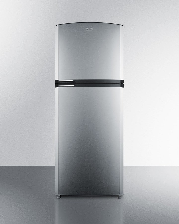 Summit ff1422ssrh 26 inch top freezer refrigerator with for Apartment ice maker