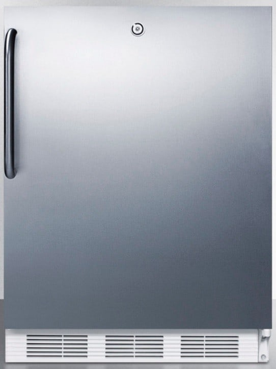 Accucold ff7lcss 24 inch built in compact refrigerator with adjustable glass shelves deep shelf - Tall refrigerators small spaces property ...