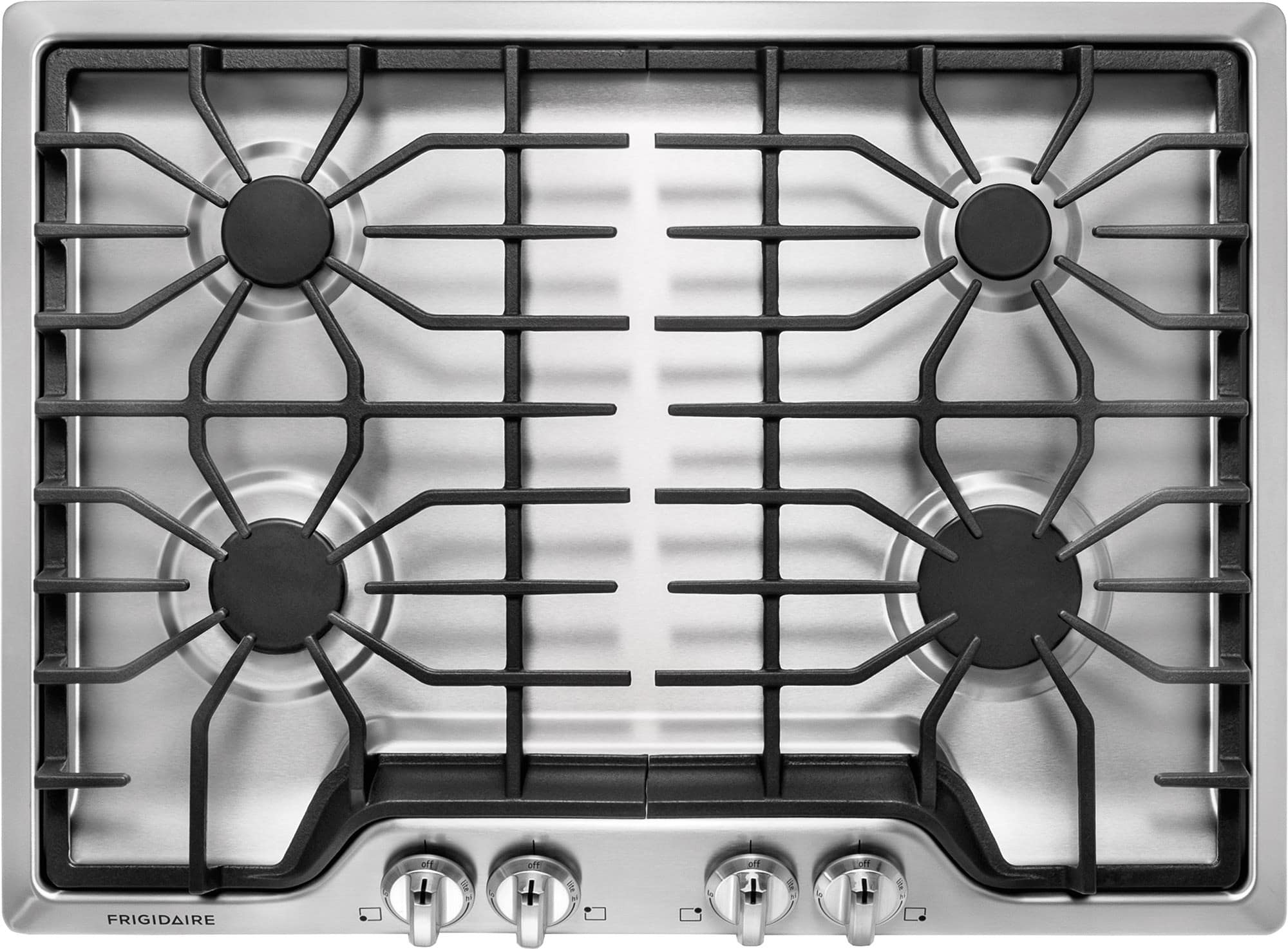 Kitchen gas stove top view - Frigidaire Ffgc3026s 30 Inch Gas Cooktop With 4 Sealed Burners Cast Iron Grates Ready Select Controls Electronic Pilotless Ignition Liquid Propane