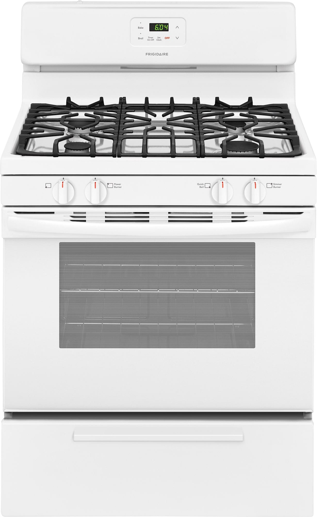 Frigidaire FFGF3051TW 30 Inch Freestanding Gas Range with Simmer ...