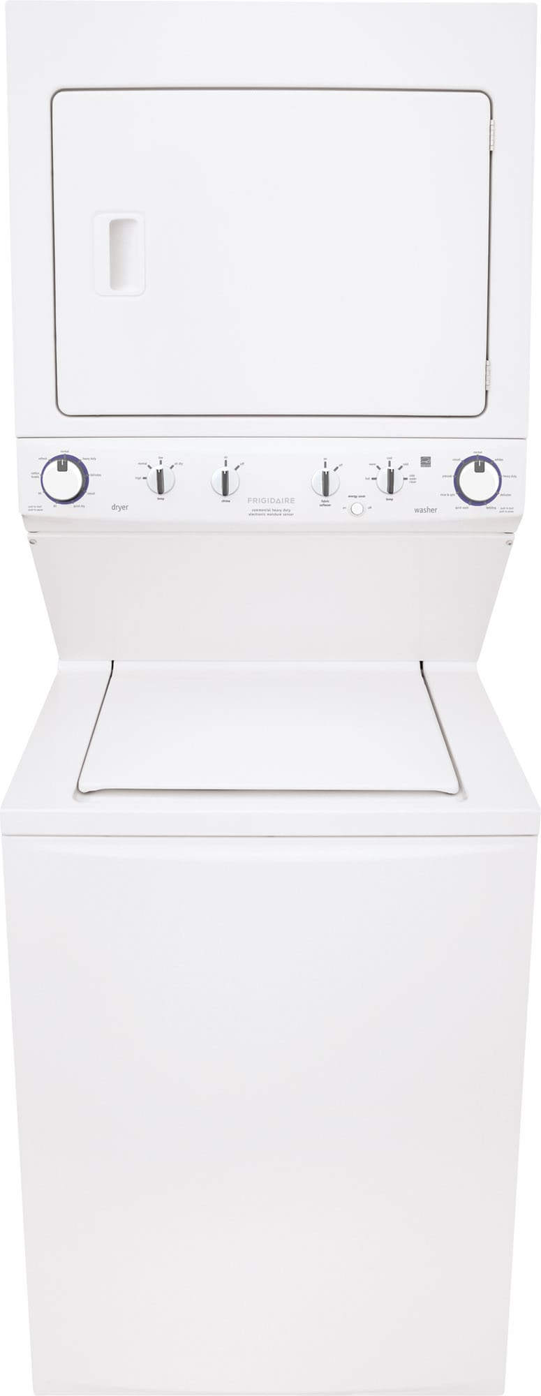 frigidaire ffle4033qw 27 inch electric laundry center with 3 8 cu  ft  washer  5 5 cu  ft  dryer