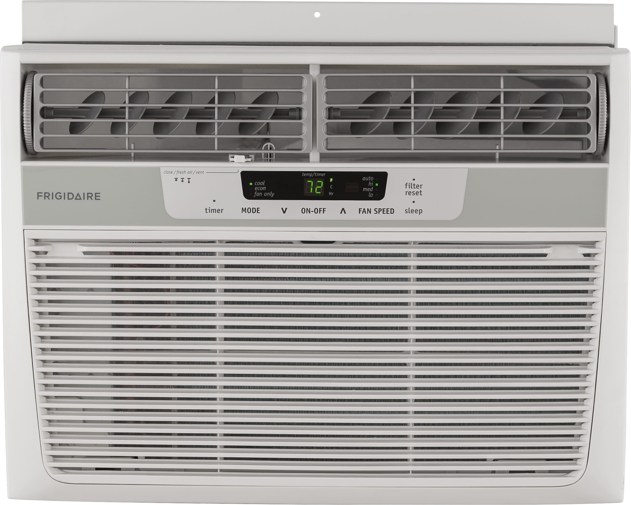 Frigidaire ffra1022r1 10000 btu window air conditioner with 109 btu window air conditioner with 109 eer r 410a refrigerant 27 ptshr dehumidification 450 sq ft cooling area auto restart and remote control biocorpaavc Choice Image