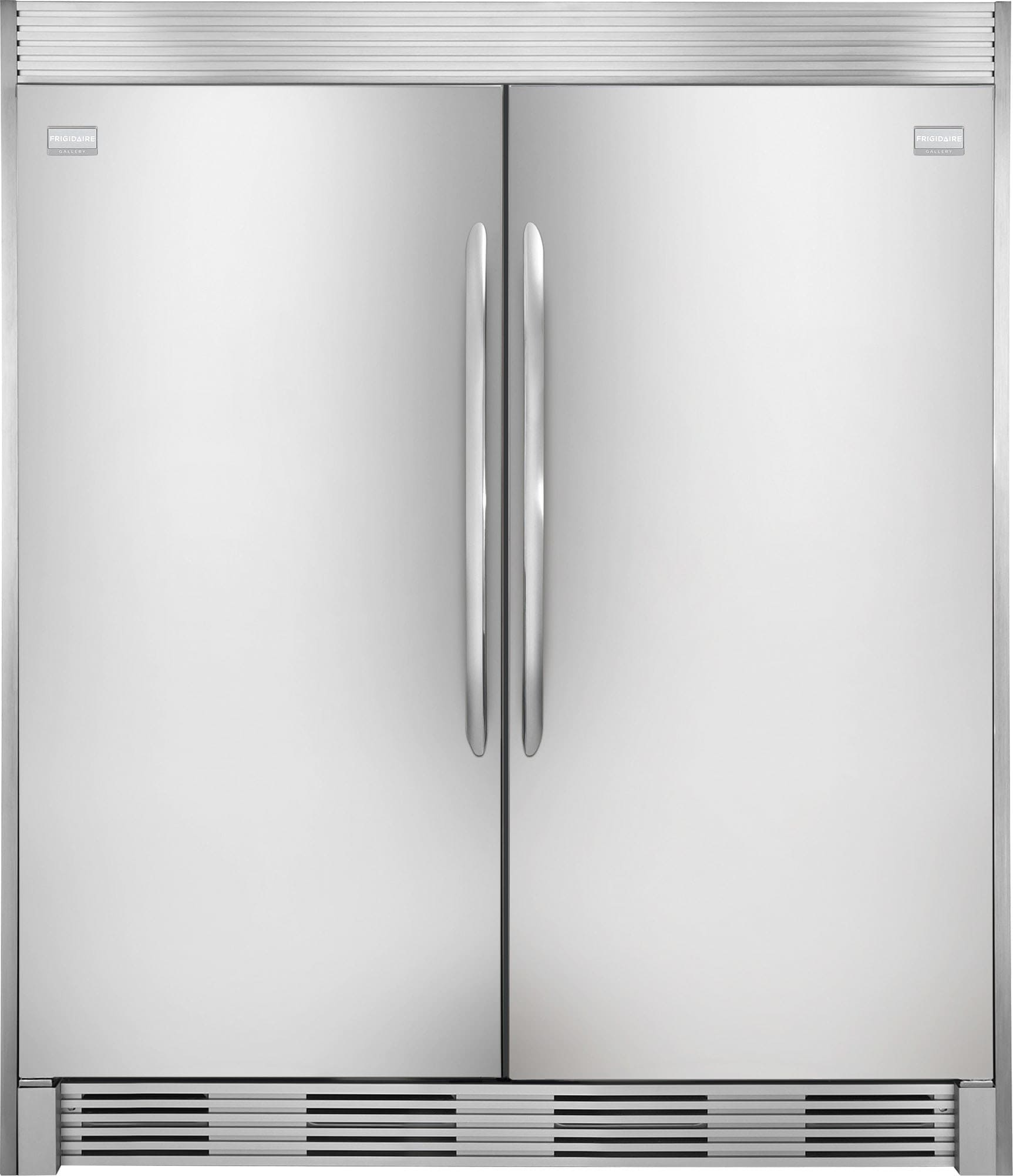 Frigidaire FRREFR1 Side-by-Side Column Refrigerator & Freezer Set with 32  Inch Refrigerator and 32 Inch Freezer in Stainless Steel