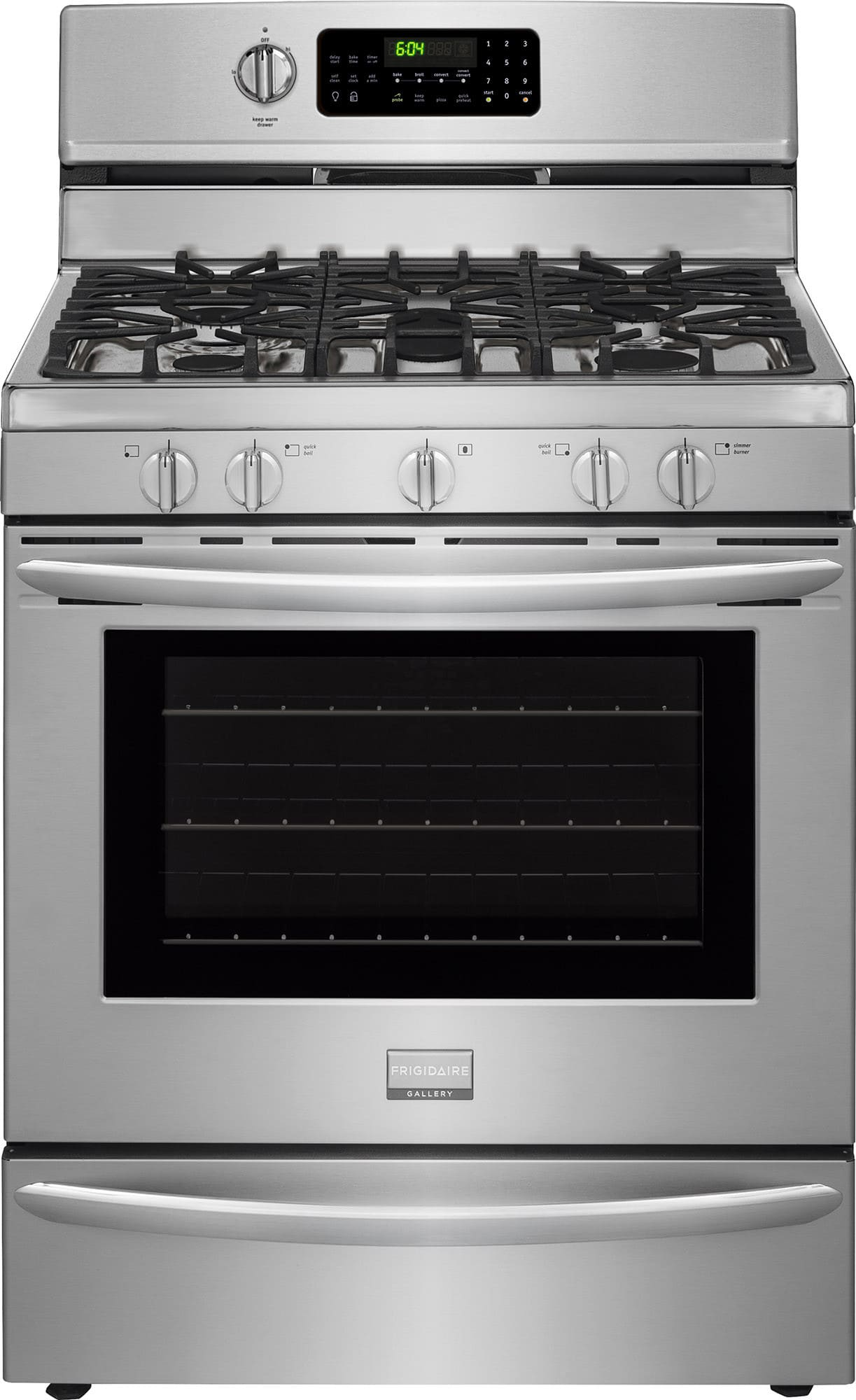 Frigidaire fggf3060sf 30 inch freestanding gas range with convection effortless temperature - Clean gas range keep looking new ...