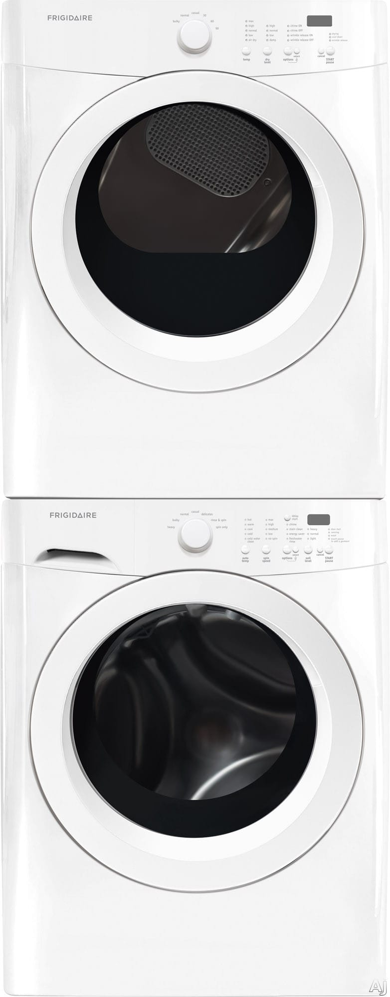 Frigidaire Frwadrew3 Stacked Washer Amp Dryer Set With Front