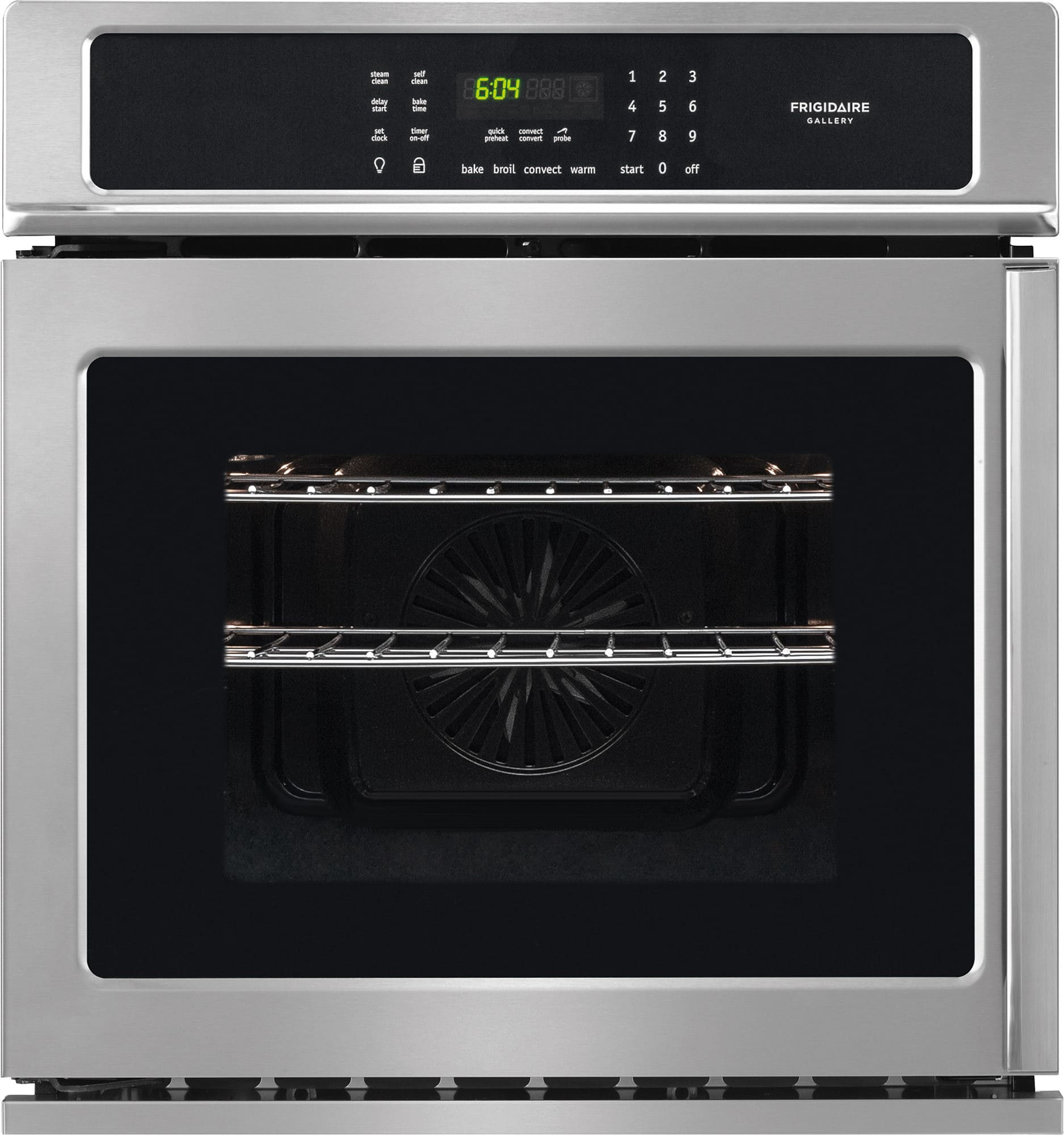 frigidaire fgew276spf 27 inch single electric wall oven with 3 8 cu ft capacity side swing. Black Bedroom Furniture Sets. Home Design Ideas