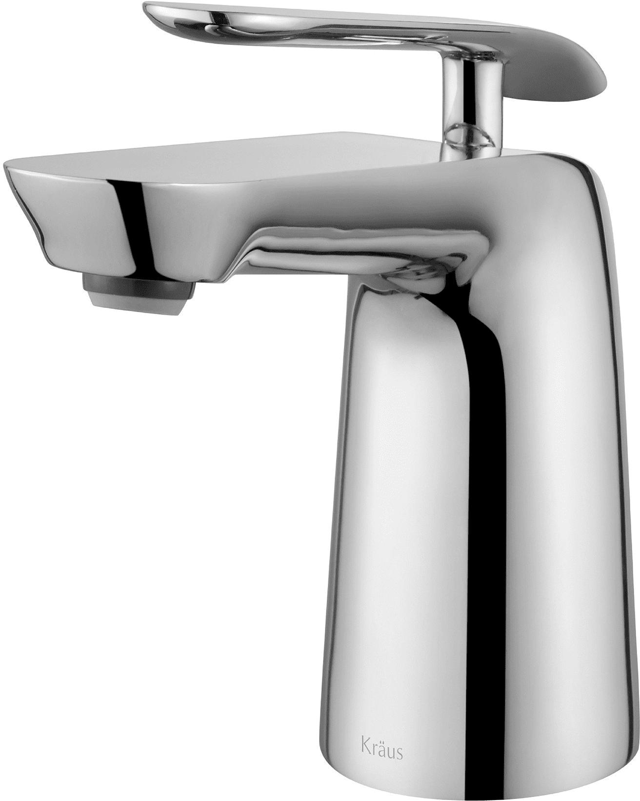 Kraus FUS1821CH Single Handle Cast Spout Bathroom Faucet with Brass ...