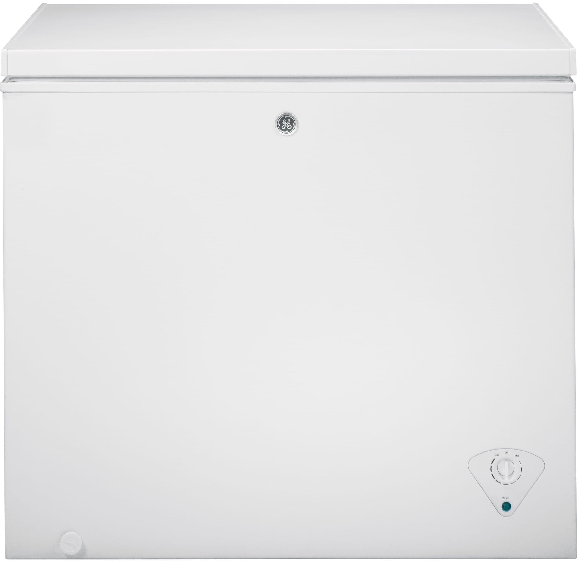 Ge Upright Freezer Manual Ge Fcm7skww 70 Cu Ft Manual Defrost Chest Freezer With 2 Lift