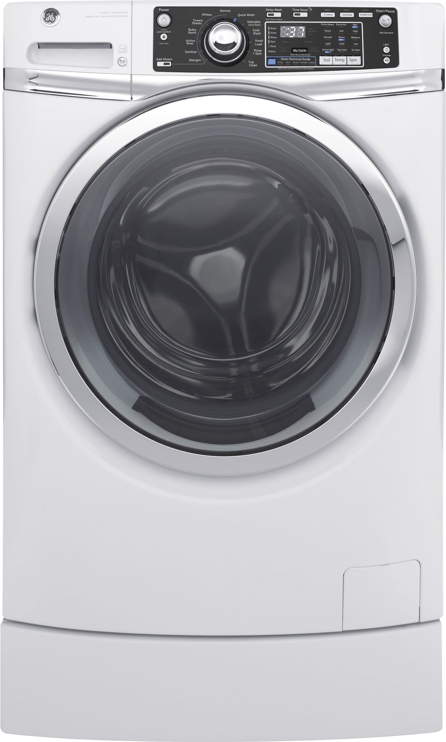 Ge Gfw490rskww 28 Inch Front Load Washer With 4 9 Cu Ft