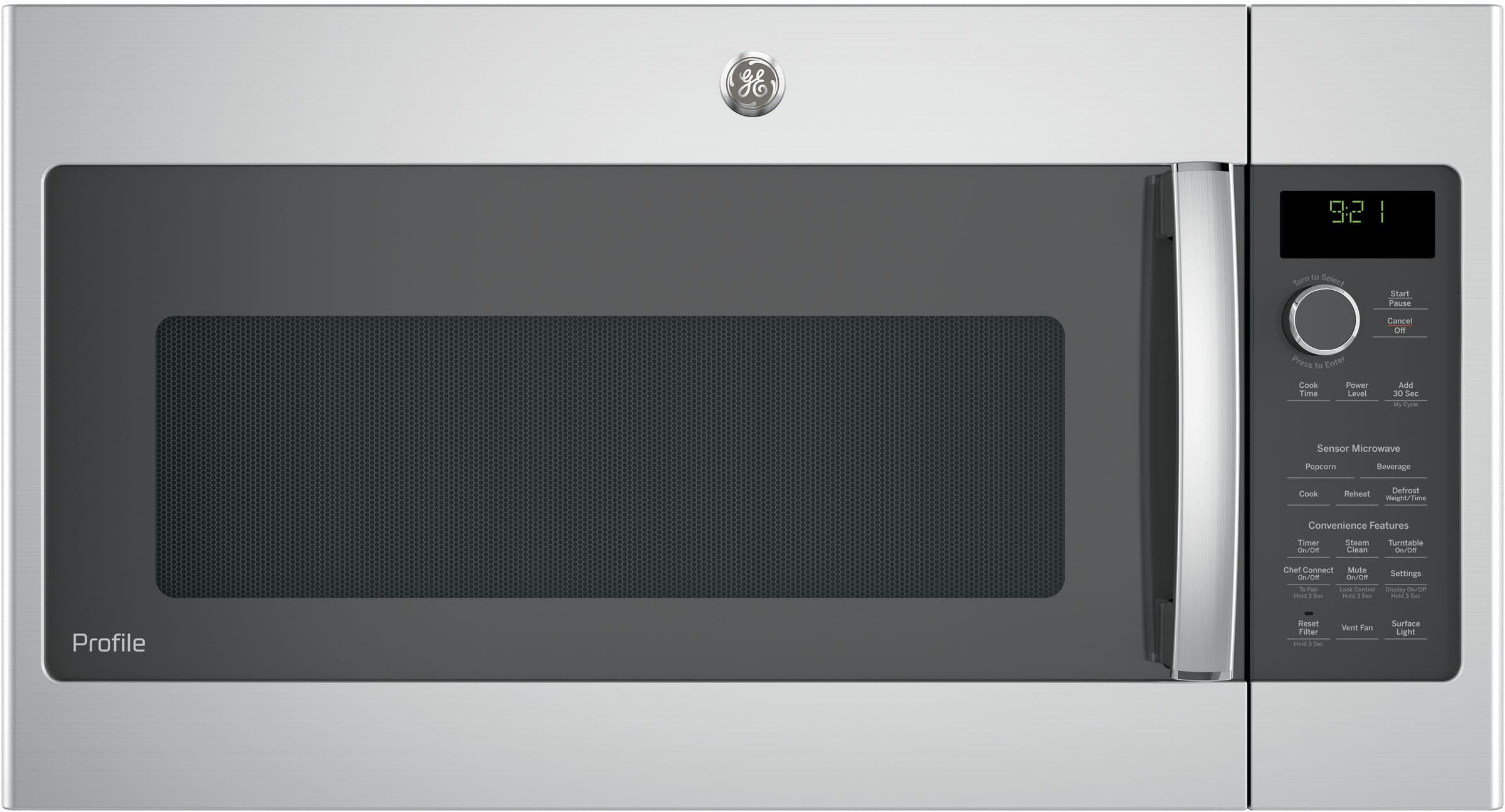 Ge Pvm9215skss 2 1 Cu Ft Over The Range Microwave With