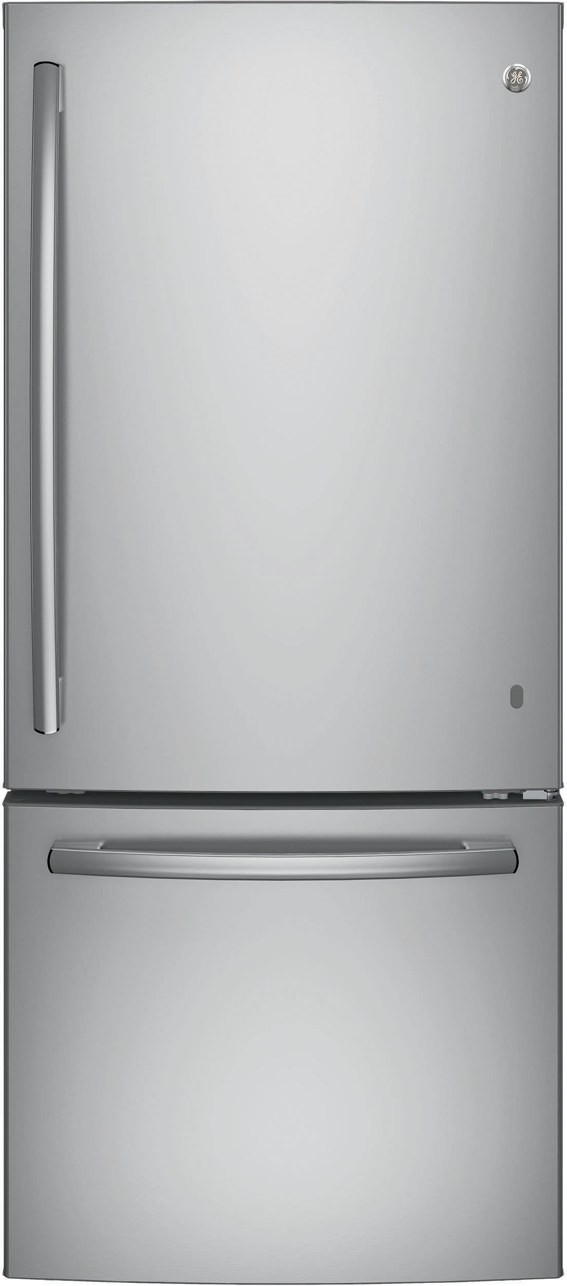 Ge gbe21dskss 30 inch bottom freezer refrigerator with 20 for Ajmadison
