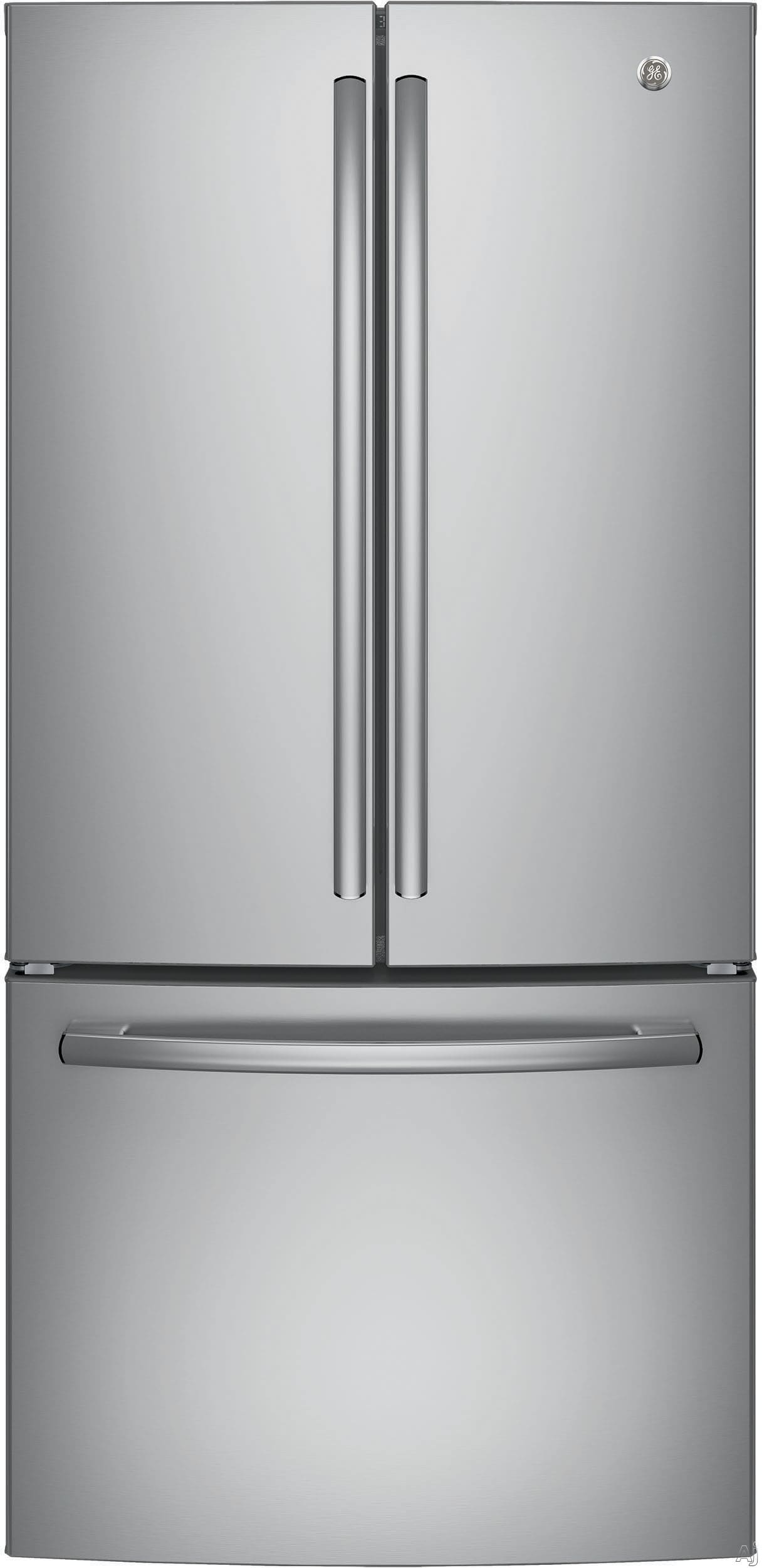Ge Gne25jskss 33 Inch French Door Refrigerator With