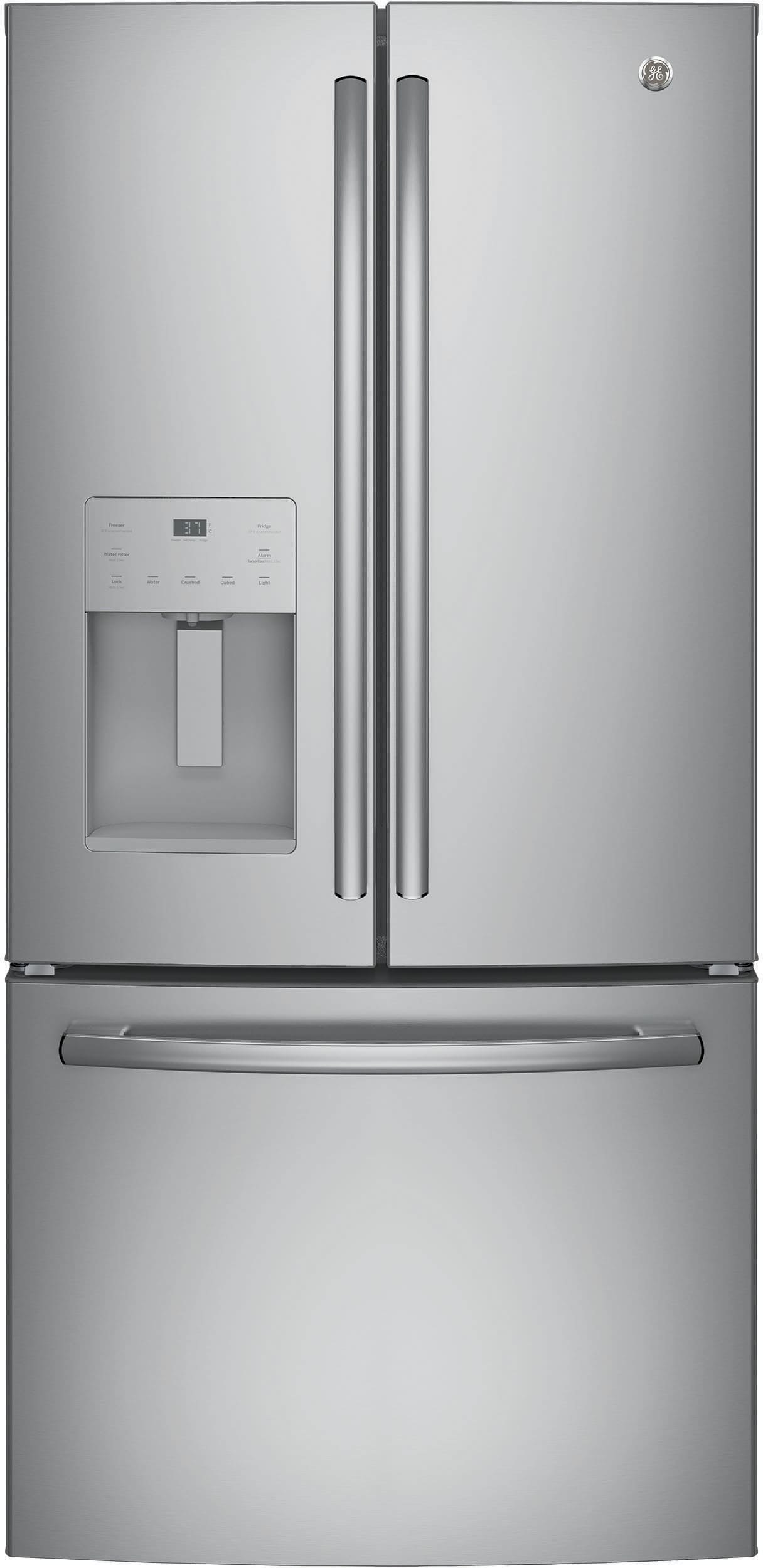 Ge Gfe24jskss 33 Inch French Door Refrigerator With Turbo
