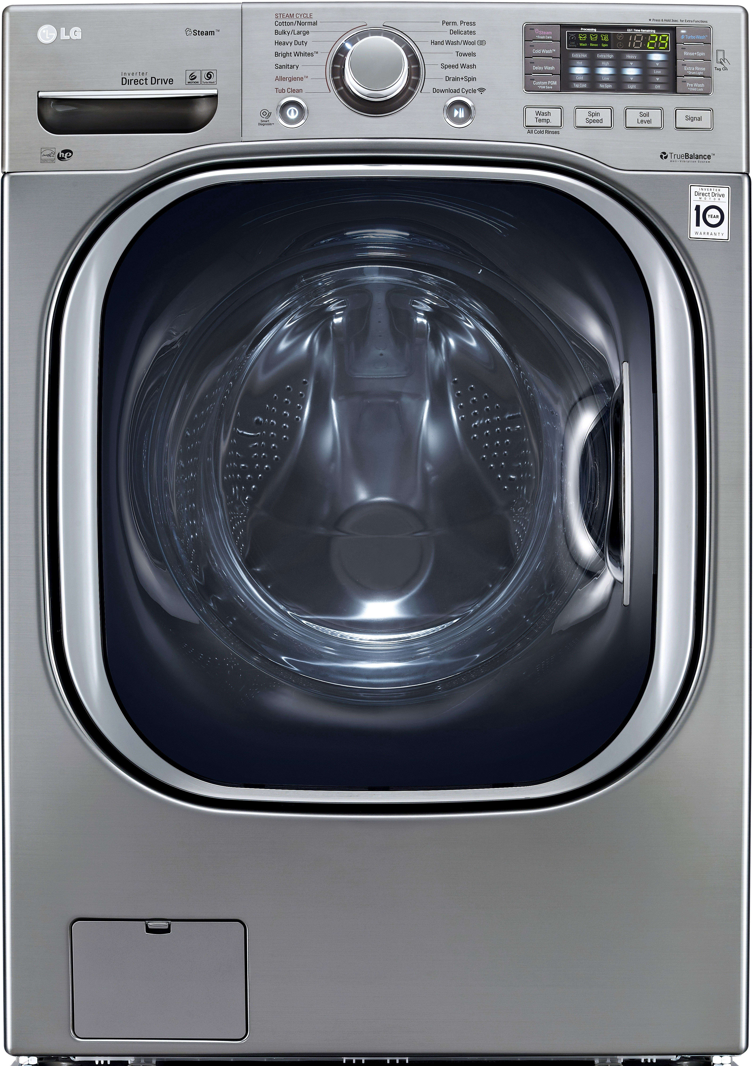 Best Over The Range Microwave >> LG WM4270HVA 27 Inch 4.5 cu. ft. Front Load Washer with 14 Wash Cycles, 1,300 RPM, Steam ...