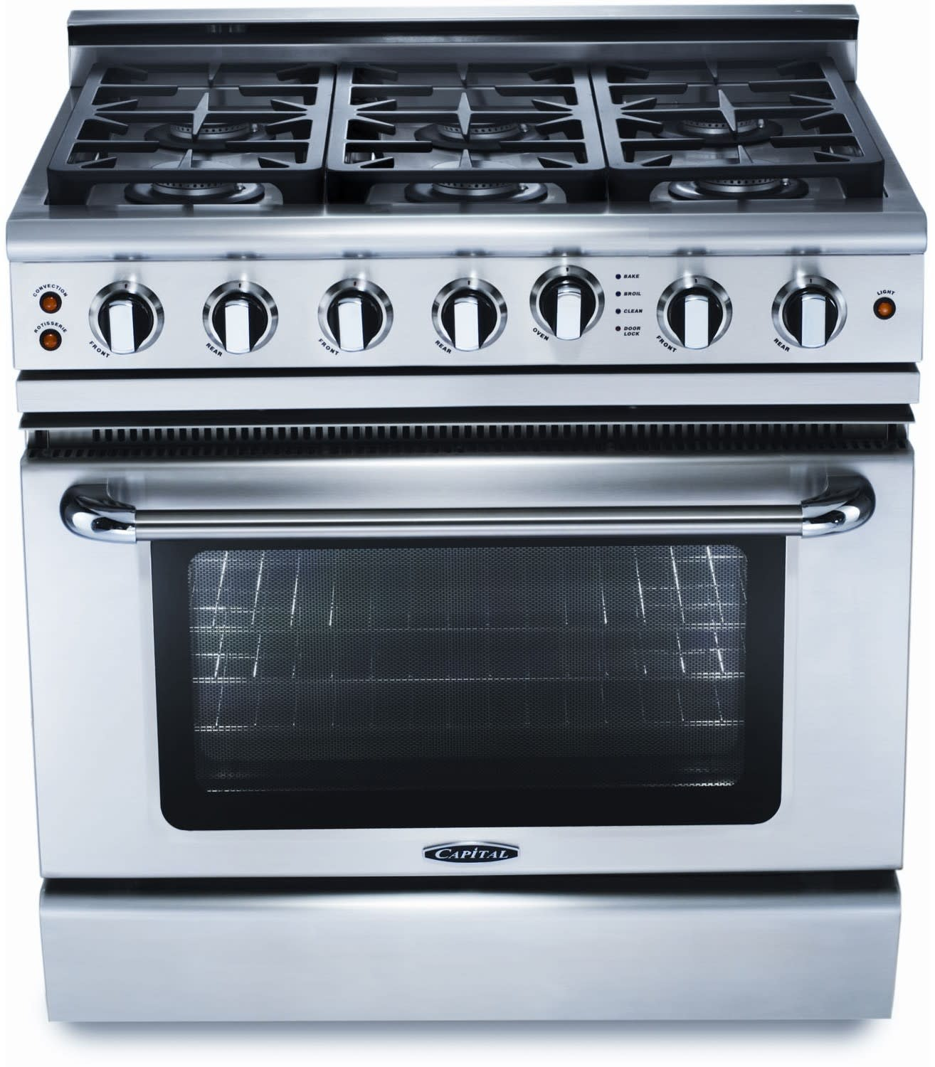 Capital GSCR366L 36 Inch Pro-Style Gas Range with 6 Sealed Burners ...