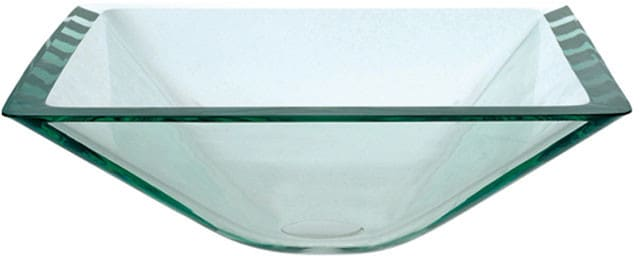 Kraus Square Clear Series GVS90119MMSN   Square Glass Vessel Sink ...