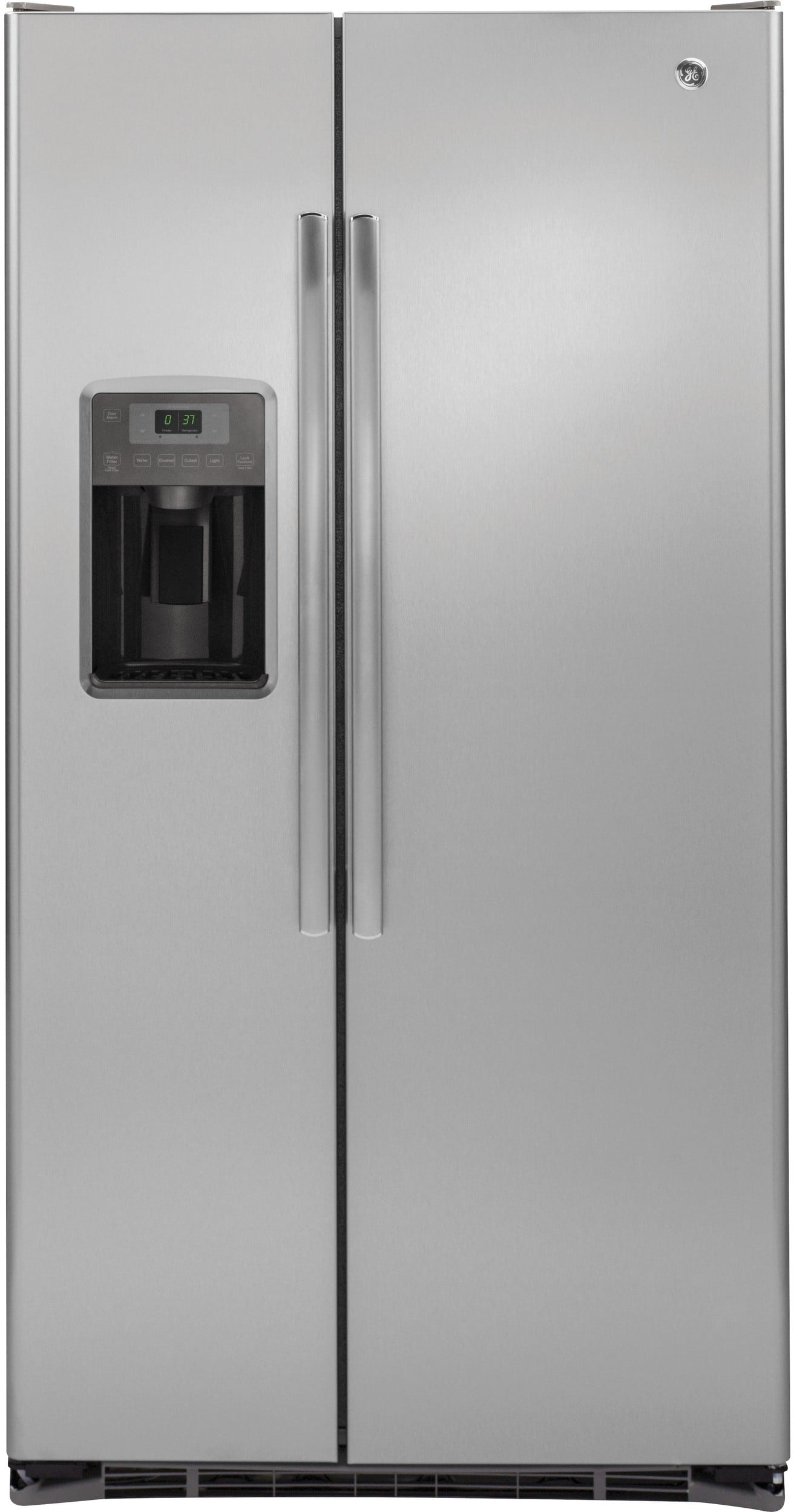 ge gzs22dsjss 36 inch counter depth side by side refrigerator with