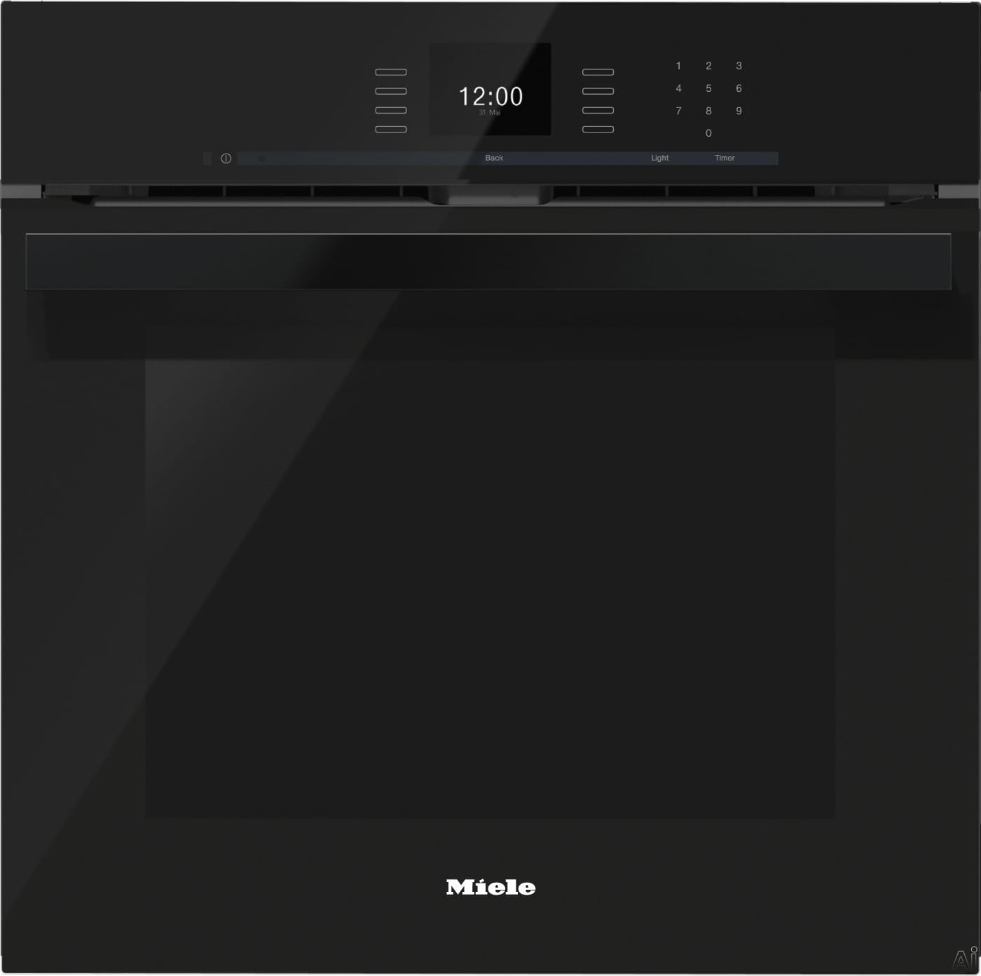 miele h6660bpobsw 24 inch single electric wall oven with. Black Bedroom Furniture Sets. Home Design Ideas