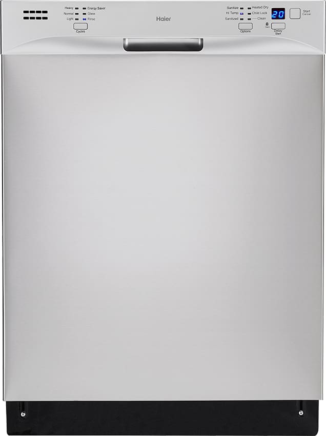 haier countertop dishwasher. haier hdbl655afs - full console energy star dishwasher from countertop o