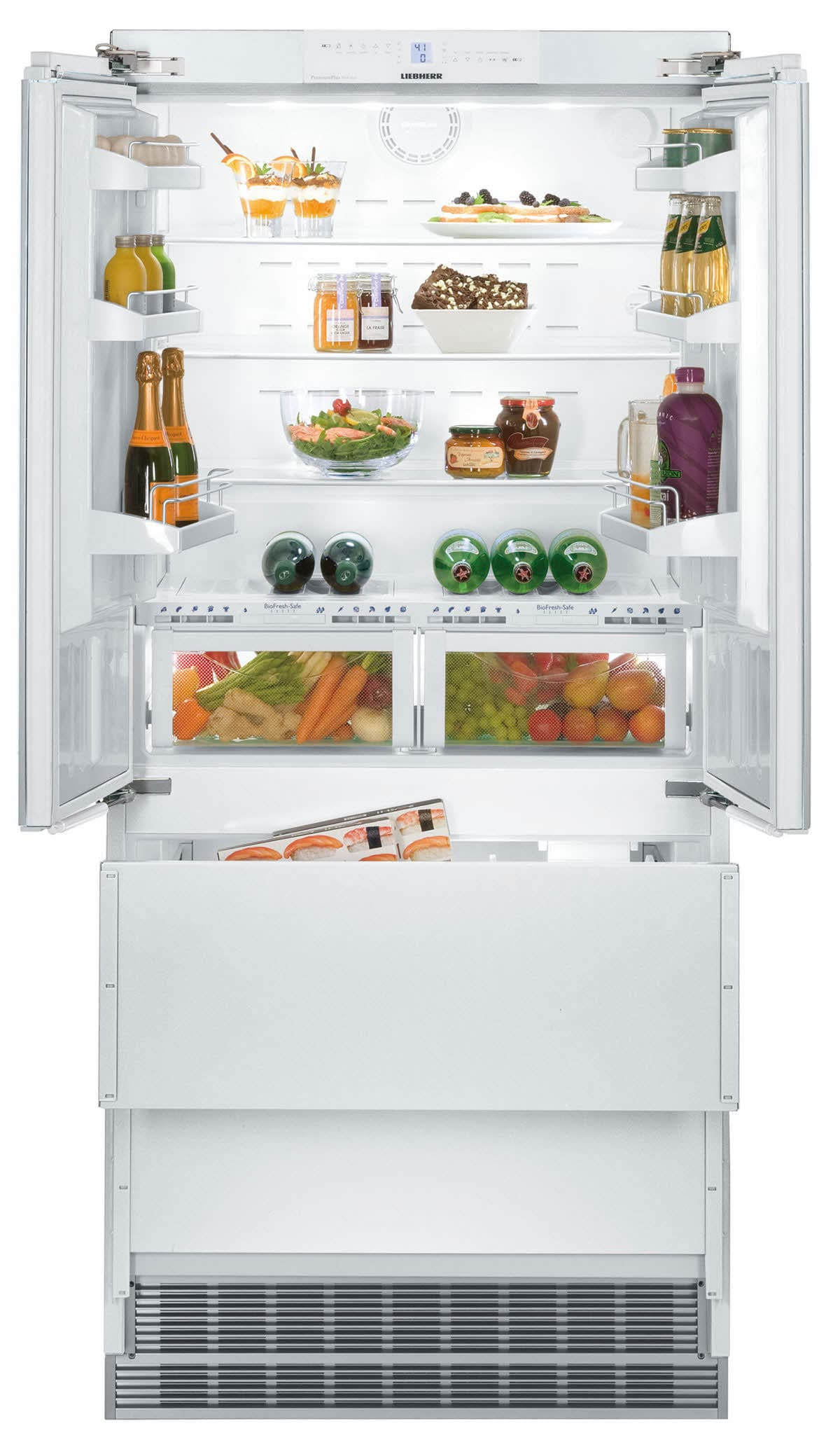 liebherr hcb2062 36 inch panel ready 4 door french door refrigerator with 18 8 cu ft capacity. Black Bedroom Furniture Sets. Home Design Ideas
