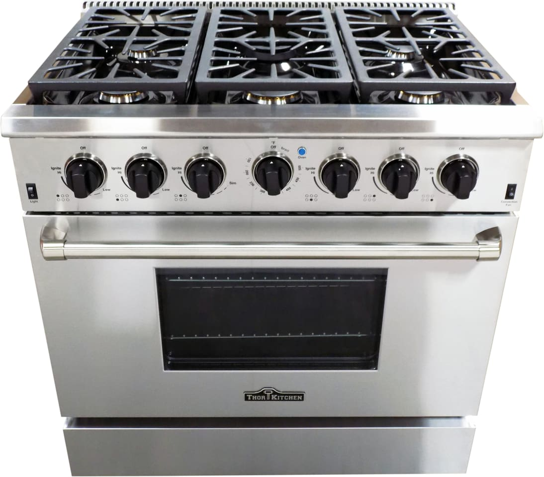 Thor Kitchen HDM3601U 36 Inch Freestanding Gas Range With