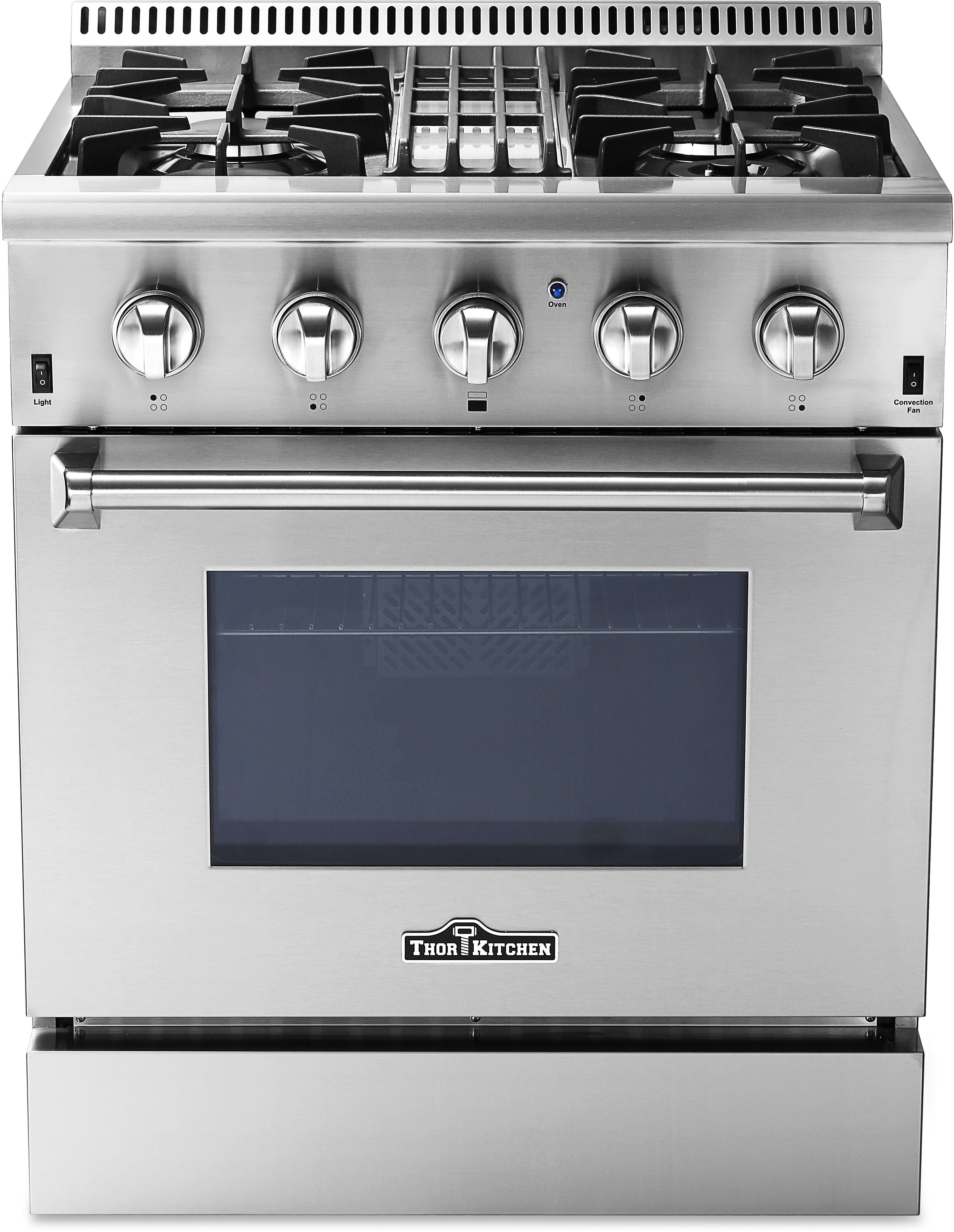 Thor Kitchen Hrd3088u 30 Inch Freestanding Dual Fuel Range