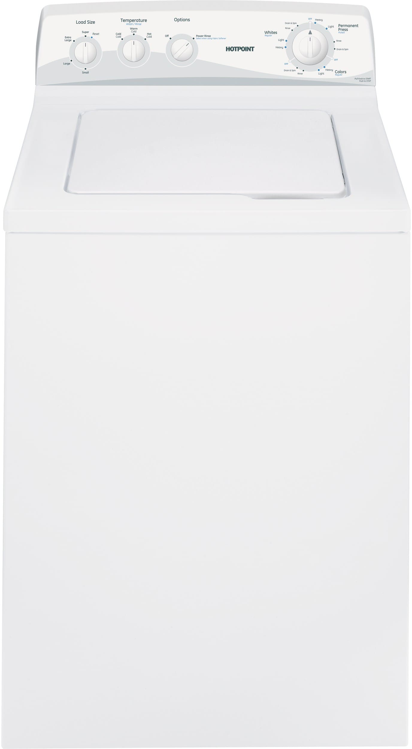 Hotpoint Top Loading Washing Machine Hotpoint Htwp1400fww 27 Inch Top Load Washer With 37 Cu Ft