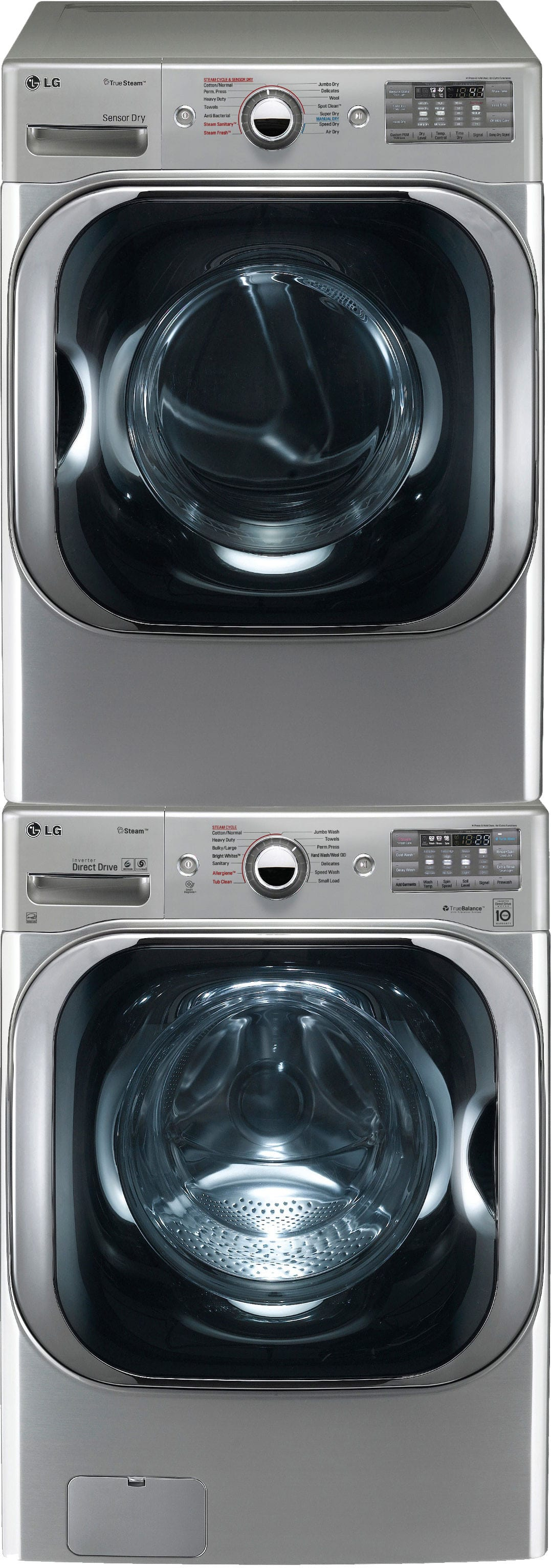 Lg Lgwadrew81010 Stacked Washer Amp Dryer Set With Front